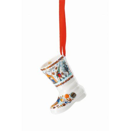 HUTSCHENREUTHER Porzellanstiefel  7,5 cm Weihnachtsstiefel 2020