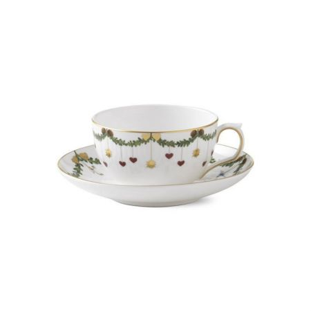 ROYAL COPENHAGEN Star Fluted - Ober- und Untertasse - Tee