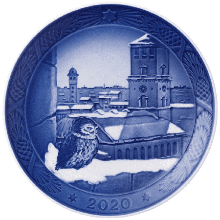 ROYAL COPENHAGEN Collectibles Weihnachtsteller Eule, 2020